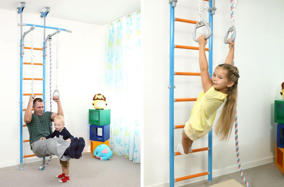 Подвижные игры для детей 6-7 лет дома на шведской стенке wallbarz