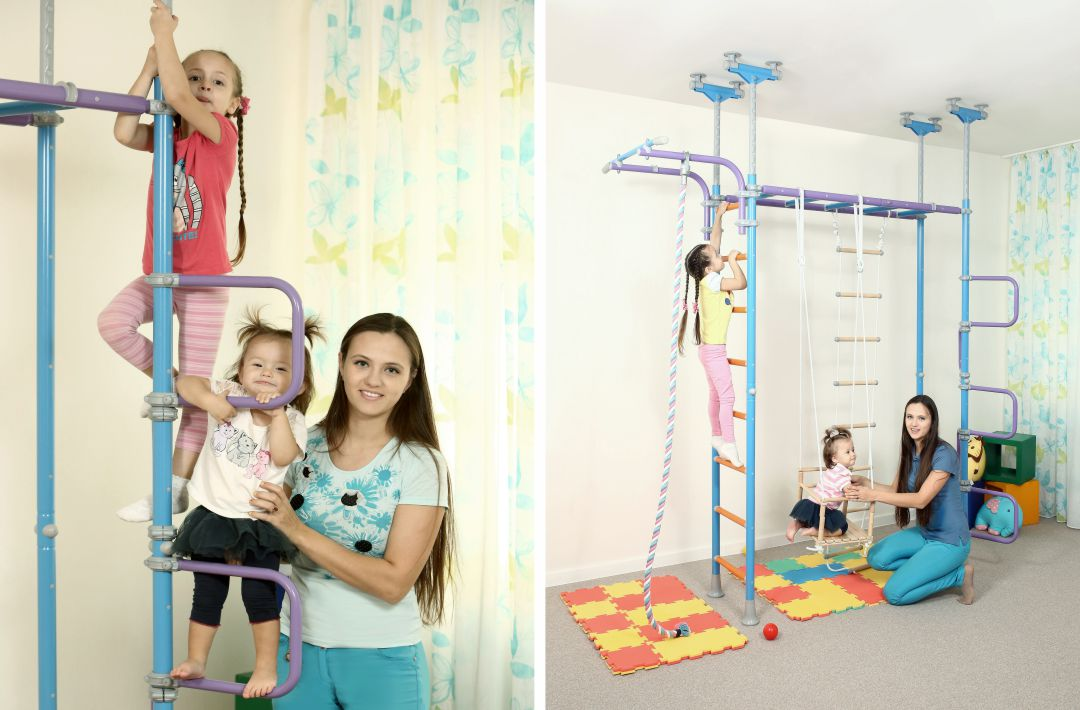 Организация детского праздника дома с помощью шведской стенки