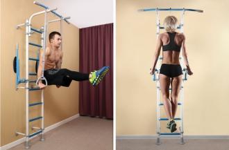 Видео: фитнес занятие дома на шведской стенке Wallbarz Fitness