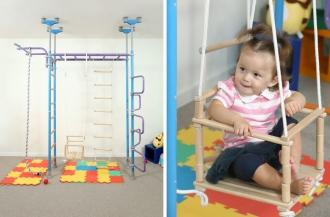 Ребенок и сенсорная интеграция c помощью шведской стенки