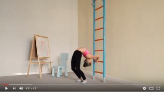 Видео: общеразвивающие упражнения для детей на шведской стенке Wallbarz