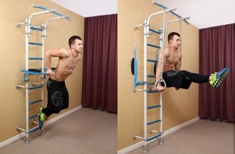 Силовая тренировка дома на шведской стенке
