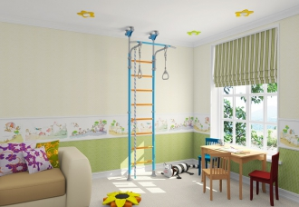 Дизайн шведской стенки Wallbarz Family