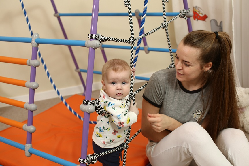 Шведская стенка для детей от года Babybarz